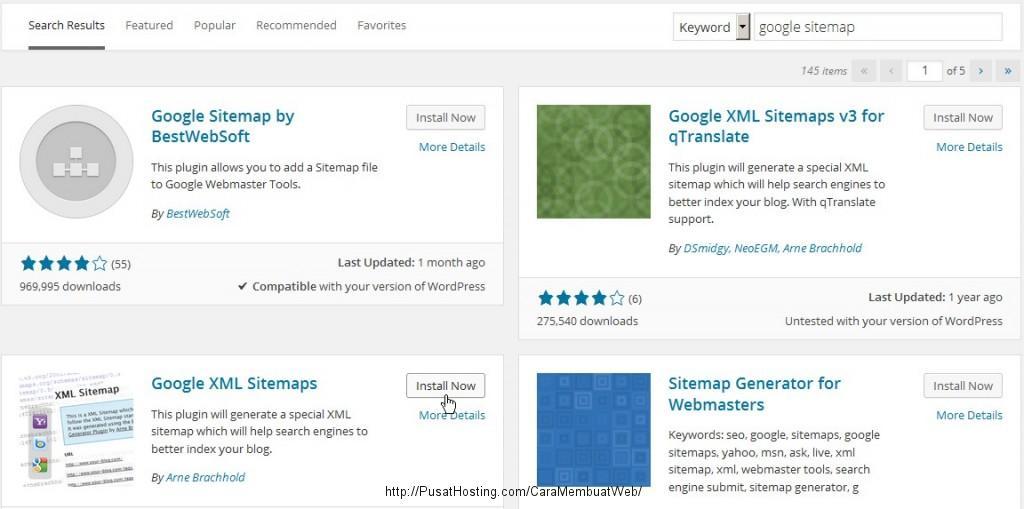 cara membuat google xml sitemap pusathosting com