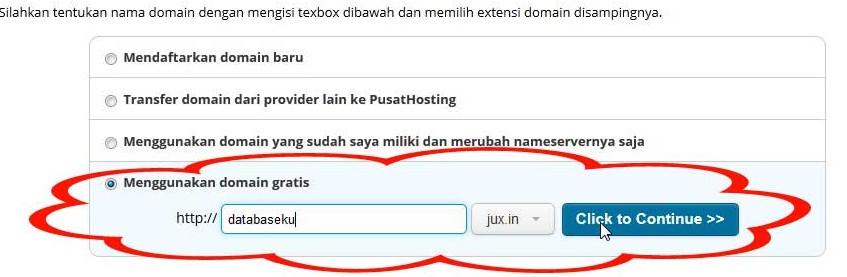 beli hosting dapat domain gratis - cara order domainya