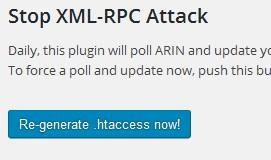 re-generate htaccess plugin stop xmlrpc attack