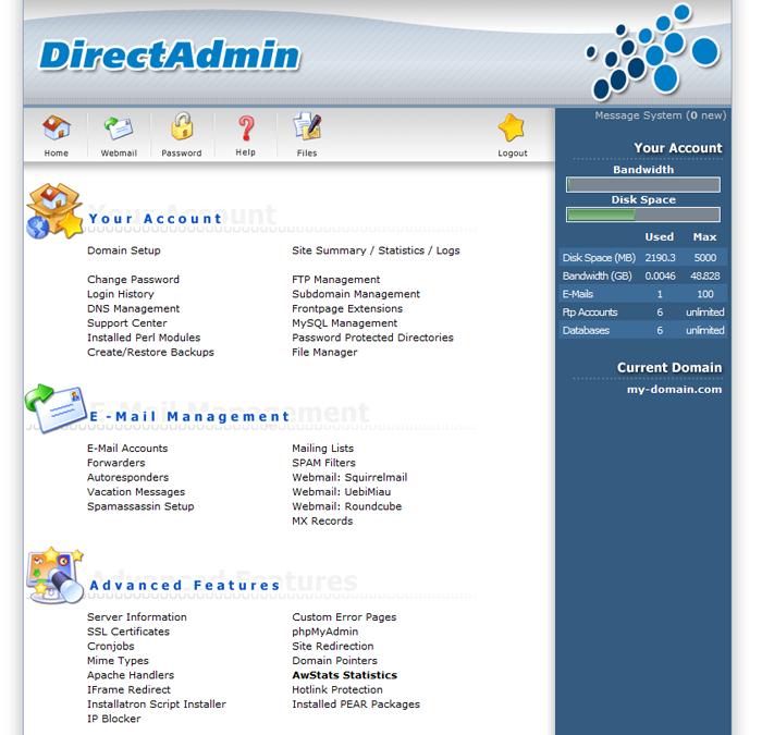 directadmin-control-panel
