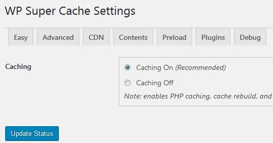 mengaktifkan wp super cache